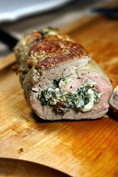 How to Make Stuffed Pork Loin Recipe . The stuffed pork loin is a easy dish. Roasted Pork Tenderloins, Pork Loin, Stuffed Pork Tenderloins, Meat Recipes, Cooking Recipes, Healthy Recipes, Cooking Corn, Game Recipes, Healthy Food