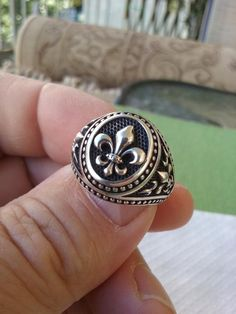 Designer Gypsy Guardian Angel Turquoise Accent Antique Bronze Ring Taille 7