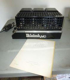 Lot # 61 - Vintage Tube Stereo Amplifier - McINTOSH Model MC 240