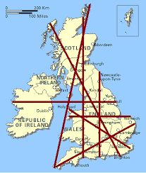 ley lines uk Earth Grid, Ley Lines, Ancient Mysteries, Old Maps, Interesting History, Weird And Wonderful, British History, British Isles, Cartography