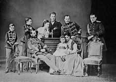THREE EMPERORS  SECOND ROW, FROM LEFT TO RIGHT  HIH THE GD PAVEL ALEXANDROVICH HIH THE GD SERGEI ALEXANDROVICH HIH THE GD MARIA ALEXANDROVNA HIH THE GD ALEXEI ALEXANDROVICH HIH THE TSESAREVICH AND GD ALEXANDER ALEXANDROVICH, LATER HIM THE EMPEROR ALEXANDER III OF RUSSIA. HIH THE GD WLADIMIR ALEXANDROVICH   SEATED:   HIM THE EMPEROR ALEXANDER II NIKOLAEVICH OF RUSSIA HIH THE GD NIKOLAI ALEXANDROVICH, LATER TSESAREVICH AND EMPEROR NIKOLAI II OF RUSSIA. HIH THE TSESAREVNA AND GD MARIA…