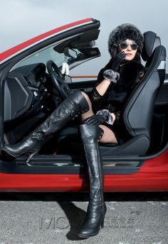 luxury style Crazy Women, Real Women, High Heel Boots, Heeled Boots, Joy Ride, Gone Girl, Fast Cars, Leather Fashion, Leather Pants