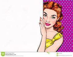 Resultado de imagem para Mulher pop art no estilo cómico E VINTAGE
