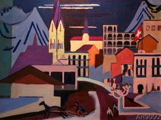 Ernst-Ludwig Kirchner - Davos place at the station
