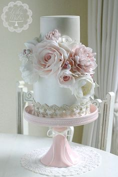 Accessibility of cake decorators may be restricted at the pastry shop of your op… – Lace Wedding Cake Ideas Amazing Wedding Cakes, Elegant Wedding Cakes, Elegant Cakes, Wedding Cake Designs, Gorgeous Cakes, Pretty Cakes, Fondant Wedding Cakes, Wedding Cake Inspiration, Floral Cake