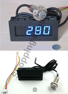 Digital Blue LED Tachometer RPM Speed Meter + Hall Proximity Switch Sensor NPN - install this for measuring machine tool spindle RPM