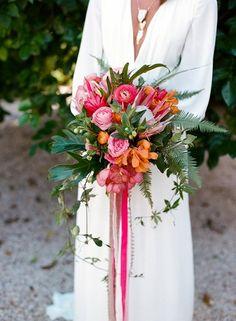 Terug naar de zomer met een tropisch bruidsboeket | www.bruiloftinspiratie.nl