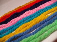 Hair Ribbon/yarns from the 70's.