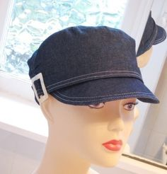 Cap sewing hat pattern 22.5 inches headsize newsboy hat for adults Ruched side seams. $12.95, via Etsy.