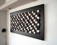 Buy wall art decor made of wood. Original, handmade, eco-friendly wall art and sound diffuser art panel made in Greece.