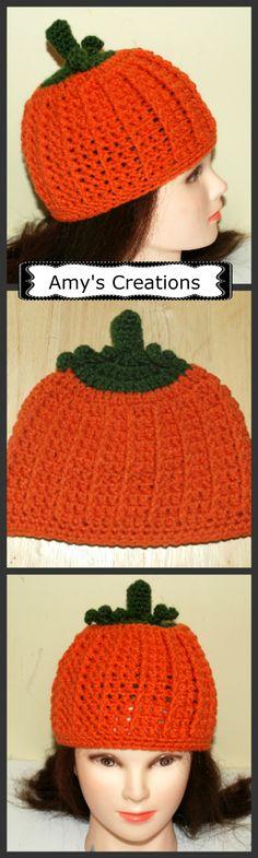 Crochet Pumpkin Hat (All Sizes), http://crochetjewel.com/?p=15825
