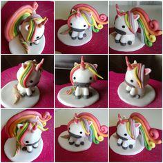 Unicorno in pasta di zucchero.