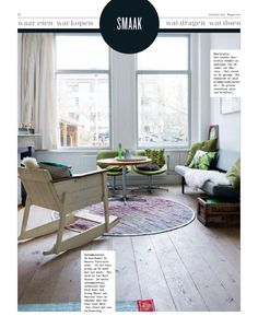 Binnenkijk produktie in Volkskrant Magazine Fotografie: Caroline Coehorst Styling: MIrjam Knots