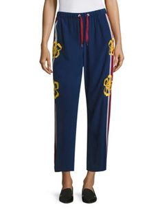 RED VALENTINO Surf Board Cropped Silk Pants. #redvalentino #cloth #pants