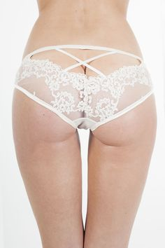 Ell & Cee Satine beaded bridal knicker
