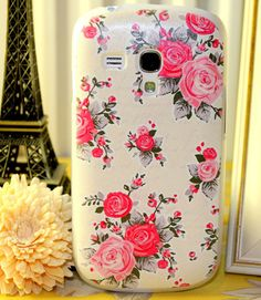 RETRO VINTAGE RUSTIN PINK ROSE COVER FOR SAMSUNG GALAXY S3 MINI I8190 PHONE CASE | eBay