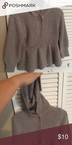 Grey Sweater with hoodie 🆕 Listing Grey Sweater with Hoodie 🆕 Pre-Loved ➰Has a small snag, please see pics ☑️Reasonable Offers Welcomed ☑️ Bundle and Save ☑️ Please ask any questions Jackets & Coats