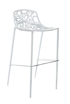 Deze design Cast Magnolia barkruk is een moderne aluminium barkruk met decoratieve bloempatronen. De Cast Magnolia barkruk is gemaakt van gegoten aluminium.
