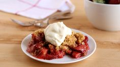 Celebrate rhubarb season's arrival with a comforting dessert you can serve straight from the crock.