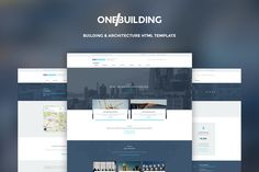 OneBuilding HTML Template by Divergent Theme on @creativemarket