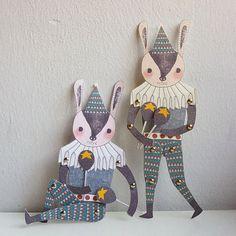 Mr. Rabbit Paper Doll Set by minifanfan Etsy