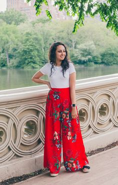 Mariela Collection: Jealous Floral Palazzo Pants in Red Floral Palazzo Pants, Girls Boutique, Wide Leg Pants, Jumpsuits, Floral Prints, Skirts, Clothes, Collection, Beautiful