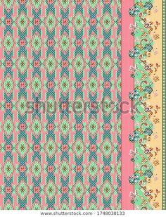 Greek Pattern, Botanical Flowers, Textile Design, Royalty Free Stock Photos, Textiles, Quilts, Digital, Lady, Illustration