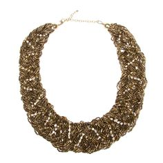 Love the bold, chunkyness of this necklace laced with a touch of dainty rhinestones to add a little more feminity.  This would be so cute with black skinny jeans, black boots-maybe with large gold buckle(s), and white cotton top with flyaway cardigan.