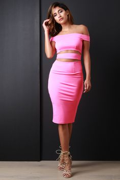 Off The Shoulder Cut Out Bodycon Dress