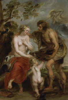Peter Paul Rubens (Flemish, 1577-1640). Meleager and Atalanta (studio of), 1635-37. Walker Art Gallery. Liverpool