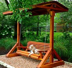 Bench Swing Sets | Forever Redwood. covered swinging bench