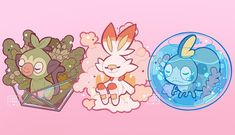 Pokemon 🛡 Galar region Starter pokemon by leaphere Ghost Pokemon, Pokemon Comics, Cool Pokemon, Pokemon Games, Kawaii Art, Kawaii Anime, Kawaii Chibi, Starter Evolutions, Good Vibe