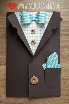 scherenherz: Mr. Geburtstagskarte - ein wahrer Gentleman
