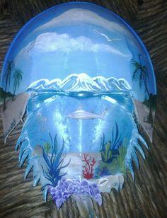 Shark KoonKrab ~ Hand Painted Horseshoe Crab by Bonnie Koon KoonBerries ;D