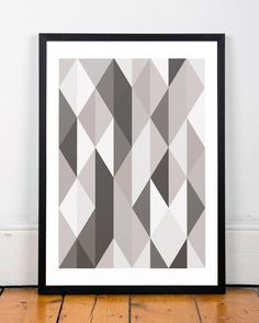 Geometric print Triangles wall art by ShopTempsModernes on Etsy