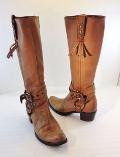 G Series Cole Haan Brown Leather Riding Boots Womens 8 B Waterproof D17675 #GSeries #FashionKneeHigh #Casual