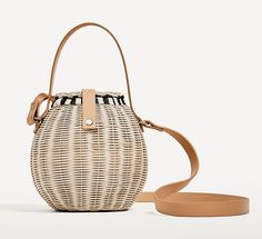 b05d4d8e74bb4 summer basket bag - Zara Raffia Bucket Bag Polka Dot Bags
