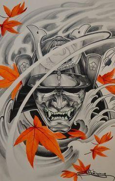 mascara samurai tattoos - Pesquisa Google                                                                                                                                                      Más