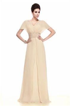 Elegant Sheath/Column Short Sleeves Floor-Length Taline's Mother of the Bride Dress EF72252