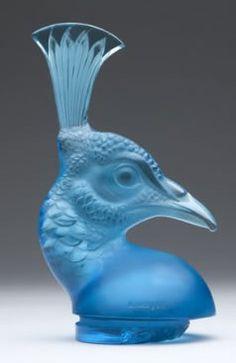 Lalique Car Mascot Peacock Head