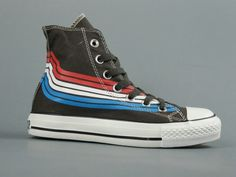 Black Canvas Shoes, Black High Tops, Converse All Star, Chuck Taylor Sneakers, High Top Sneakers, Converse Online, Blue Lines, How To Wear, Accessories