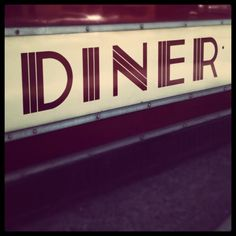 """The EMPIRE DINER was located on 10th Ave in NYC's meatpacking district when it actually was the place where meat processing and packing took place before the tourists and High Line took away the area's unique """"NYC character"""""""