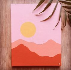painting easy beginner / painting easy - painting easy beginner - painting easy acrylic - painting easy ideas - painting easy flowers - painting easy step by step - painting easy aesthetic - painting easy canvas Simple Canvas Paintings, Easy Canvas Art, Small Canvas Art, Mini Canvas Art, Cute Paintings, Diy Canvas, Acrylic Painting Canvas, Diy Painting, 3 Canvas Painting Ideas