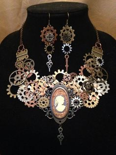 What is Steampunk? by Figment Costuming - Blog, Steampunk Necklace and Earrings by Figment Costuming & Jewelry