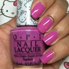 Super Cute in Pink from the Hello Kitty by OPI 2016 Collection | Nailpolishpursuit.com