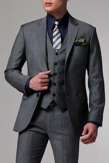 Vincero Gray 3 Piece Suit | Indochino