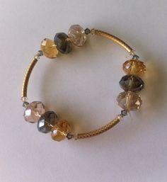 Pulsera con cristales de dona tipo swarovsky con oro by BeOriginal