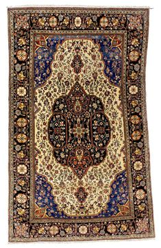 Antique Rugs/Persian Rugs: A Mohtashem Kashan Carpet C. 1900 Sotheby's