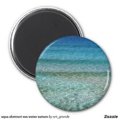 aqua abstract sea water nature 2 inch round magnet