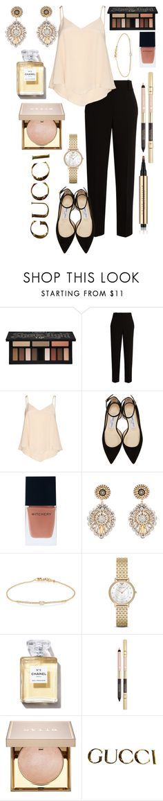 """Untitled #446"" by maria-sirjak ❤ liked on Polyvore featuring Kat Von D, The Row, Alice + Olivia, Jimmy Choo, Witchery, Miguel Ases, Tate, Emporio Armani, Stila and Gucci"